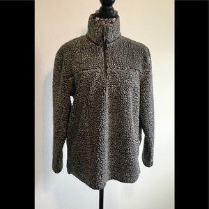 Boxercraft Dark Grey Pullover Sherpa Sweater /S